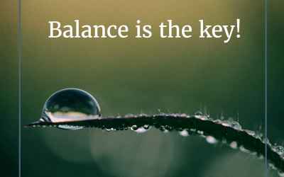 Balance is the key!